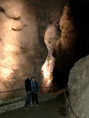 Brian and Carter Bourn on the Natural Entrance Trail of Carlsbad Caverns