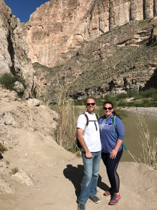 Brian and Jennifer Bourn on the Boquillas Canyon Trail