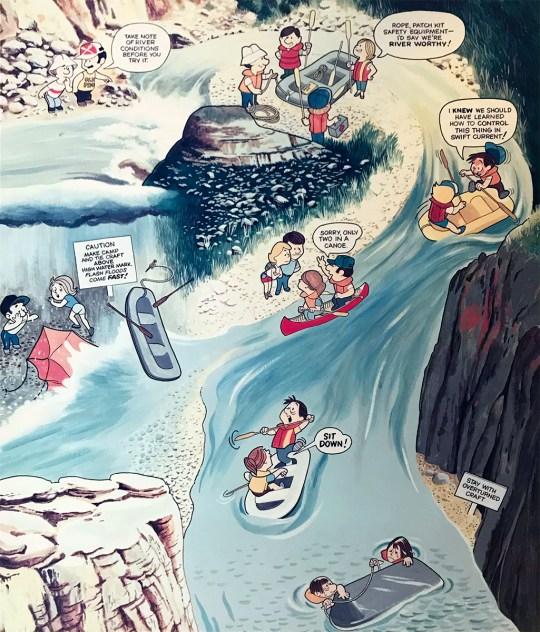 Cartoon Exhibit on Rafting the Rio Grande
