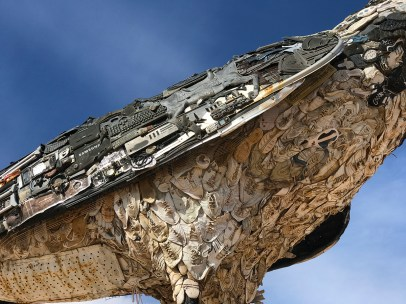 Closeup of the Roadrunner Statue