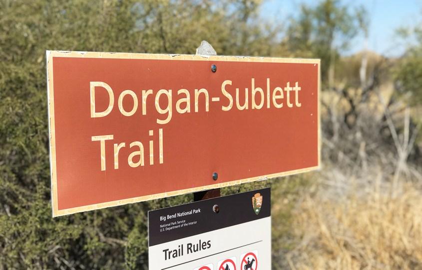 Dorgan-Sublett Trail Sign