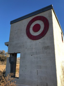 Fake Tiny Target in the West Texas Desert