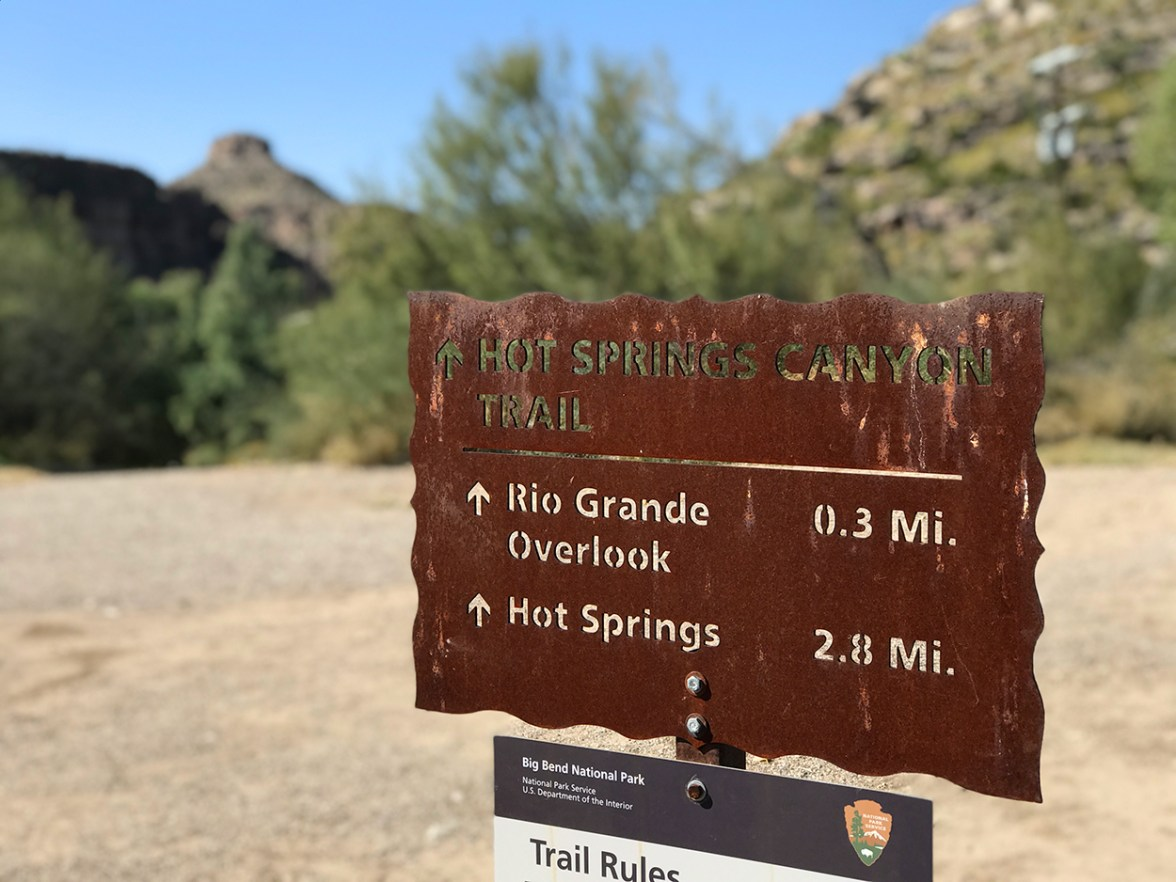 Hot Springs Canyon Trail Sign