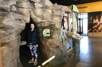 Natalie Bourn at the Carlsbad Caverns Visitor Center Museum