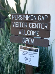 Persimmon Gap Visitor Center Sign