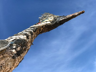 Recycled Roadrunner Statue-scenic-view-rest-area