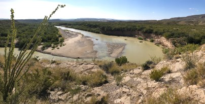 Rio Grande River Bend at Boquillas Canyon