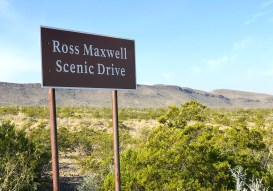 Ross Maxwell Scenic Drive Sign