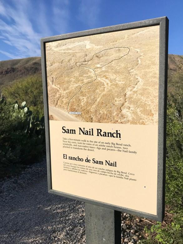 Sam Nail Ranch Sign