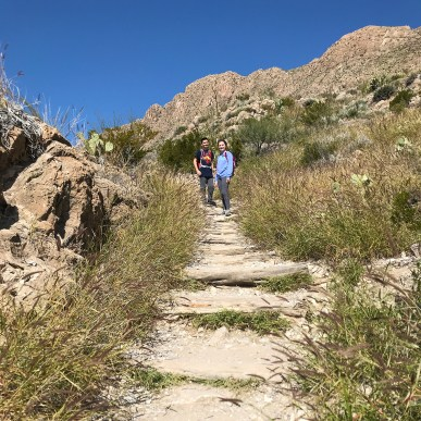 Dtairs on the Boquillas Canyon Trail