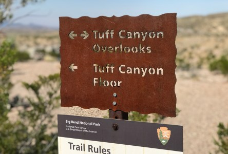 Tuff Canyon Sign