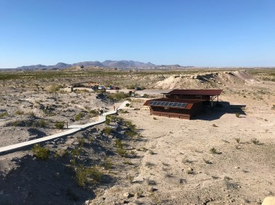 View of the Fossil Discovery Center Building and Parking Area From The Trail