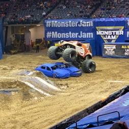 Monster Mutt Crushing Cars