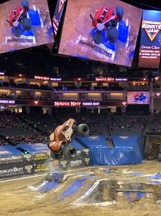 Monster Mutt Monster Truck Jumping In The Air