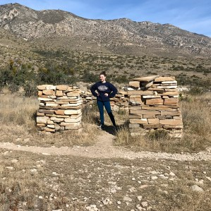 Natalie Bourn Exploring Ruins On The Pinery Trail at Guadalupe Mountains National Park