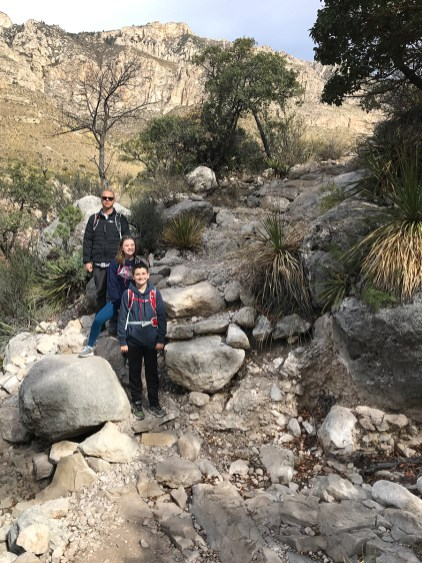 Steep Rocky Trail in Guadalupe Mountains National Park