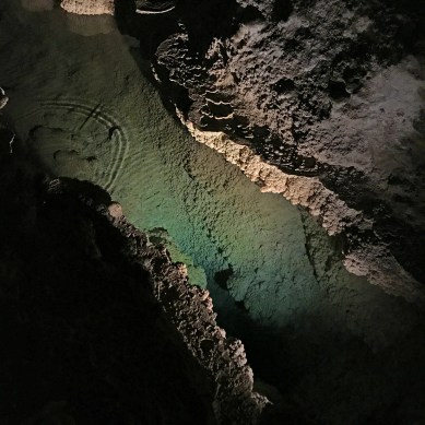 Underground River on the Big Room Trail at Carlsbad Caverns