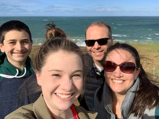 Bourn Family Hiking At Mori Point