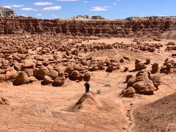 Brian and Carter Standing In Goblin Valley