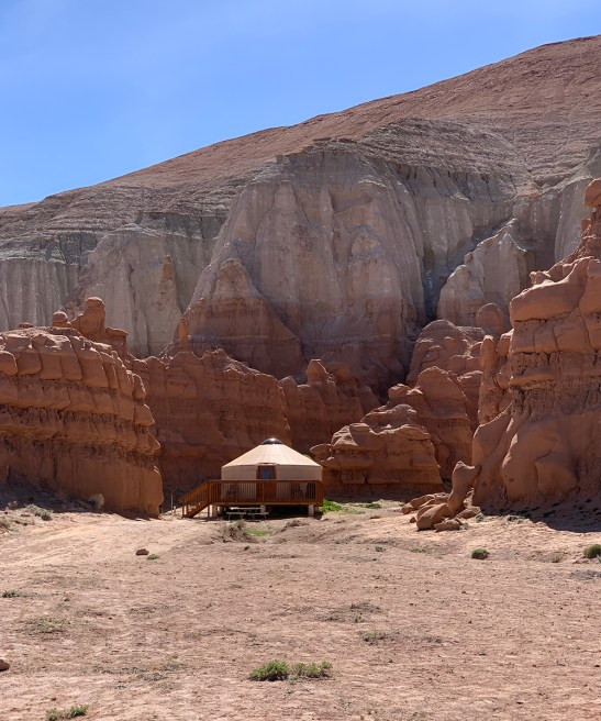 Camping in a Yurt In Goblin Valley