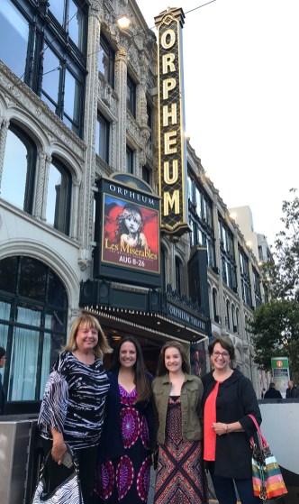 June, Natalie, Jennifer, and Linda at the Orpheum