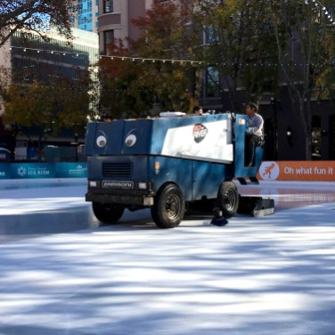 Sacramento Ice Rink Zamboni