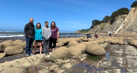 Bourn Family At Bowling Ball Beach