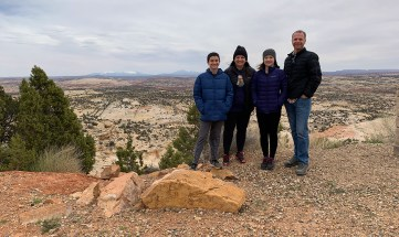 Bourn Family Visiting Grand-Staircase-Escalante National Monument