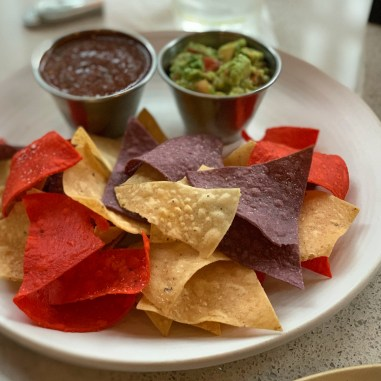 Chips and Salsa and Guacamole at Amarouth 1819