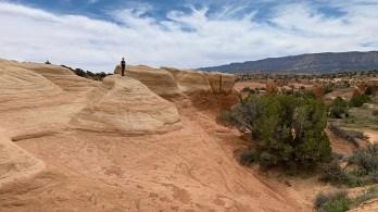 Carter Exploring the Devil's Garden Natural Area in Utah