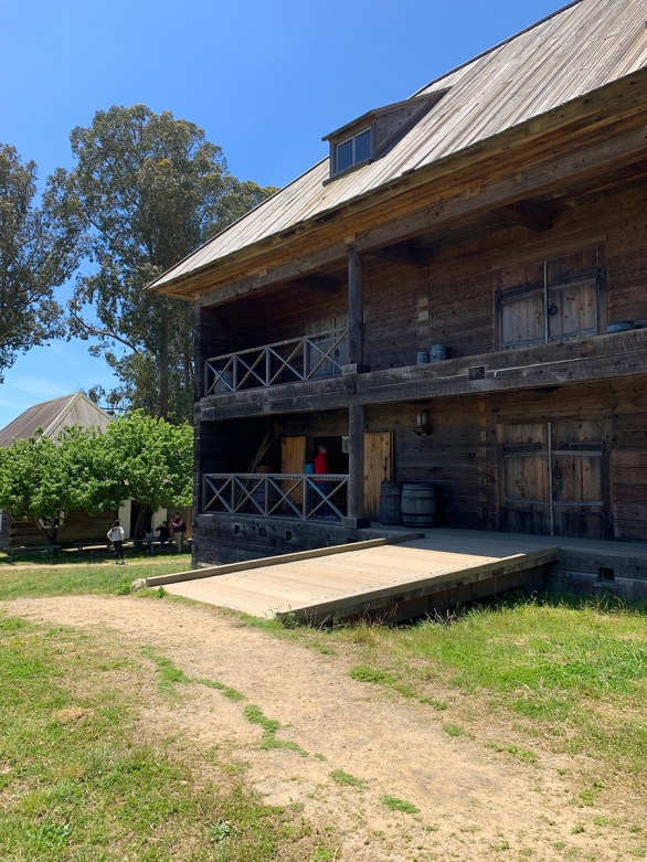 Walking Through Buildings at Fort Ross