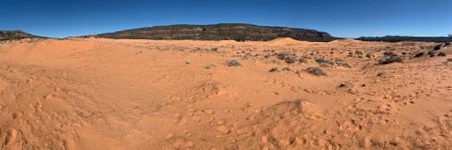 Panorama Of The Coral Pink Sand Dunes State Park