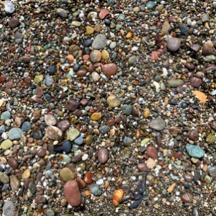 Pebbles on Wright's Beach