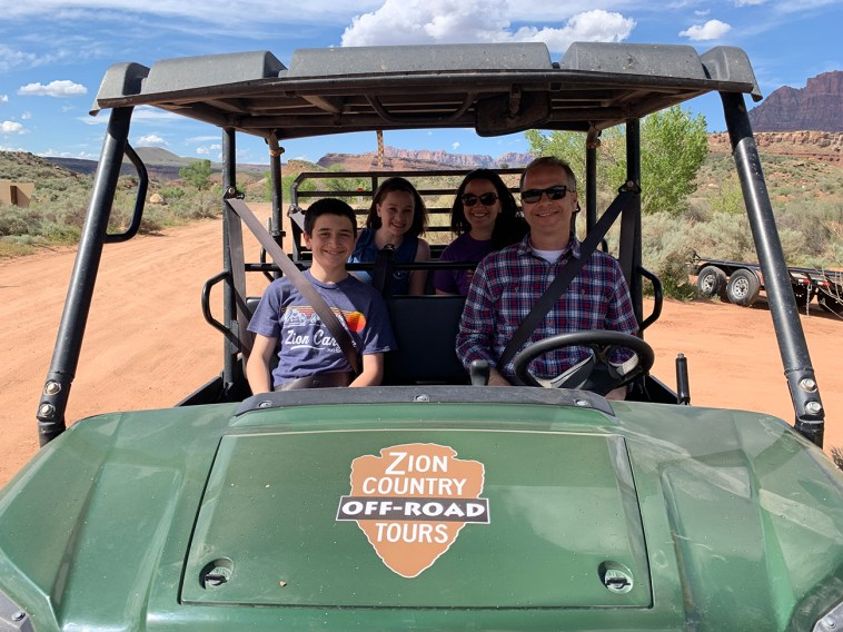 Bourn Family On A Zion Country Off-Road Tour