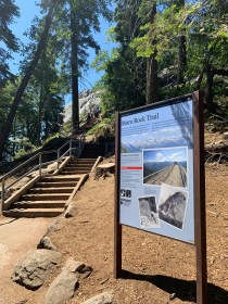 Moro Rock Trail Sign