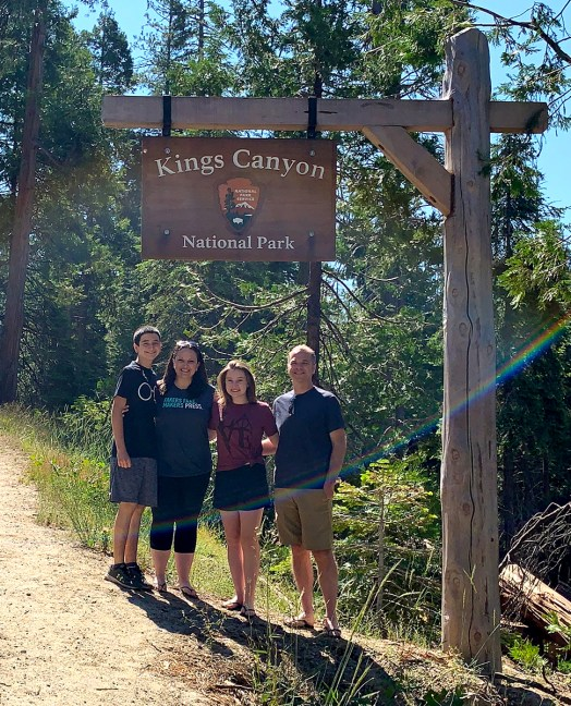 Bourn Family At Kings Canyon National Park