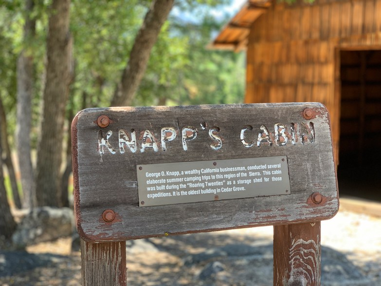 Knapp's Cabin Sign