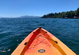 Realxing on the waters of Lake Tahoe