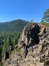 Natalie and Carter Bourn Hiking Eagle Rock