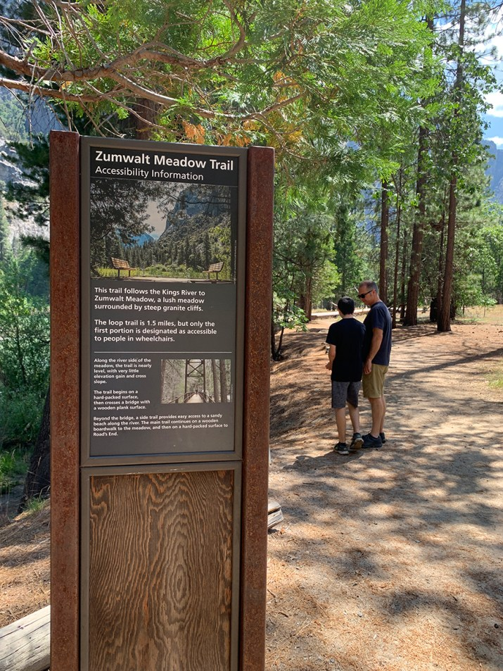 Zumwalt Meadow Trail Sign