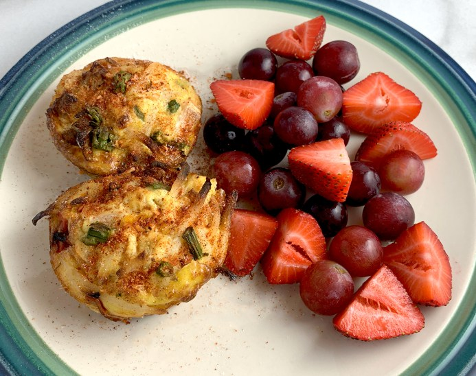 Asparagus Egg Muffins and Fresh Fruit