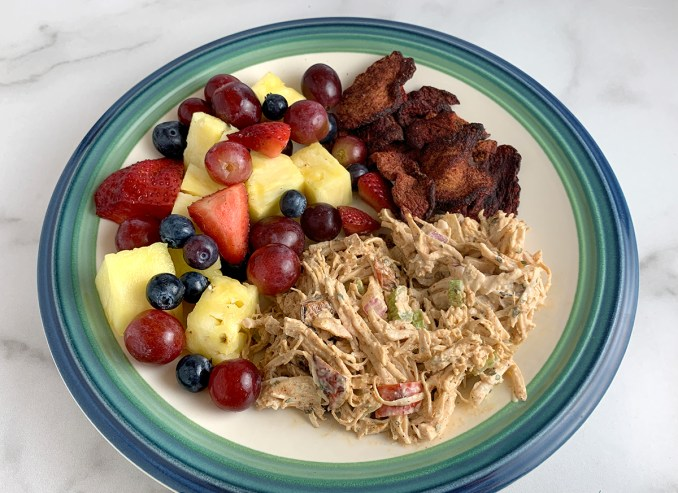 Chipotle Chicken Salad and Fresh Fruit