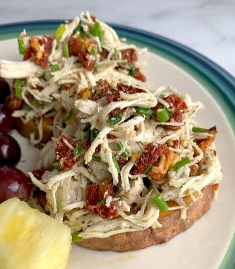 Sun Dried Tomato and Chives Chicken Salad