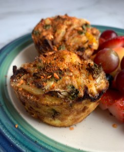 Vegetable and Turkey Sausage Egg Cups