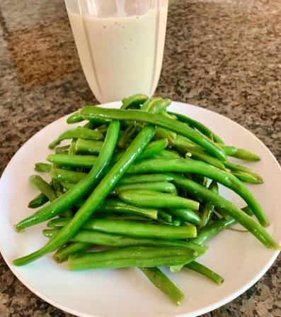 Lemon Green Beans and A Vanilla Shake