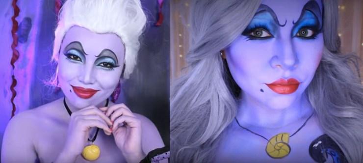 Ursula Halloween Costume Idea Face Paint