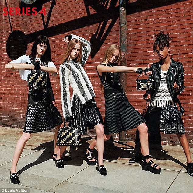 Menswear Louis Vuitton SS16 Spring Summer Fashion Jaden Smith Campaign