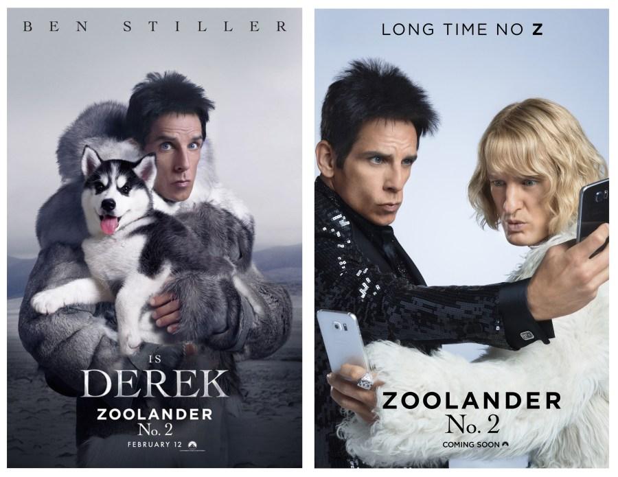 February Favourites Zoolander 2 Ben Stiller Owen Wilson Poster