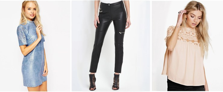 rock-chic spring summer 2016 High Street Asos Boohoo Leather Lace Metallic