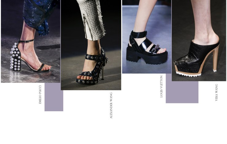 rock-chic spring summer 2016 Rock Chic Shoes Emilio Pucci Alexander Vera Wang Louis Vuitton